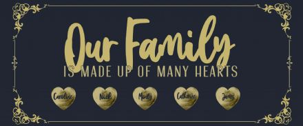 Personalised Our Family Is Made Up Of many hearts - Metal Vintage Wall Sign Mother Day